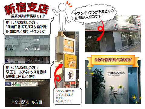 新宿支店のアクセス